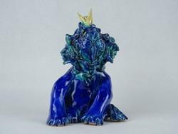 0W520 Morvay Zsuzsa művészi kerámia oroszlán