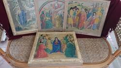 Litográfia, Biblia története, 28 darab esemény képekben, 19. század eleje-közepe.