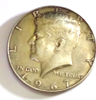 1967 USA Kennedy ezüst 1/2 Dollár