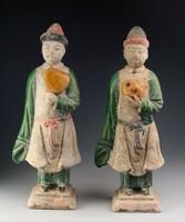 Antik kínai szobrok! Ming-dinasztia (1368-1644). Garantáltan eredeti!