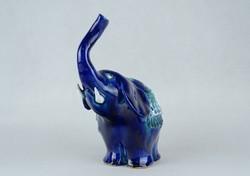 0W523 Morvay Zsuzsa művészi kerámia elefánt 16 cm