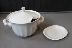 Hollóházi levesestál és ovális tányér