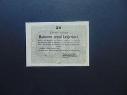 30 krajcár 1849 Kossuth bankó Szép bankjegy !!!  01