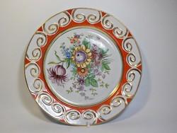 Virágos  nagy porcelán tál , kínáló Alba Julia