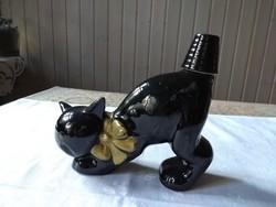 Szenzációs kerámia macska palack