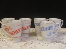 Becher's porcelán likörös pohár készlet