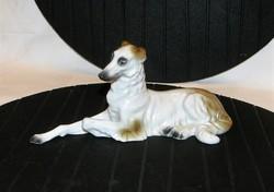 Orosz Agár régi Sitzendorf porcelán figura