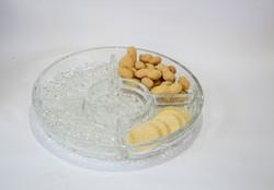 Osztott üveg snack kínálótál párban