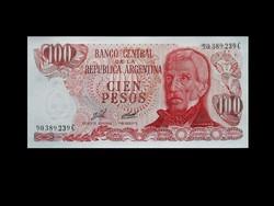 UNC - 100 PESOS - ARGENTINA - 1977 - Ma már ritkaság!