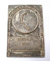 Tenisz plakett,Kerületi bajnogság 1936, I.díj,Arkanzas.