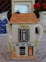 Gyűjtői  Tea bolt házforma kanna