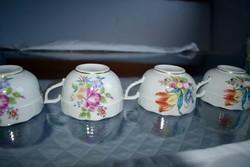 Herendi porcelán, 4 csésze+ 4 csészaalj