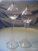 U8 ART deco,tűzzománc díszes fürdő olaj üvegek alul jelzett aranyozással 27 CM