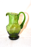 Zöld üveg kis kancsó 01  ( DBZ 00112 )