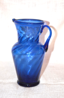 Kék huta, szakított üveg kancsó  ( DBZ 00112 )