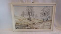 Simon Imre festmény tájkép