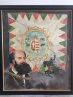 """,, Apó II"""" Köhler Péter, zsűrizett festménye"""
