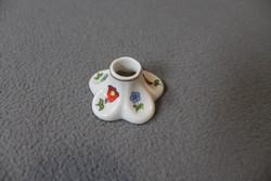 Kalocsai porcelán gyertyatartó