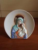 Aquincum Szűz Mária a kis Jézussal gyönyörű festésű porcelán