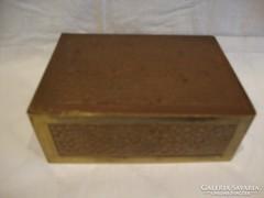 Régi réz kézműves doboz
