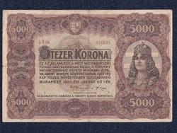 Magyar 5000 korona 1920 (nagyméretű)/id 8640/