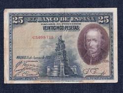 Spanyol 25 peseta 1928 (id8256)