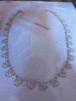 Női ezüst nyaklánc,nyakék