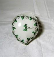 Herendi szív alakú petrezselyem mintás bonbonier / ékszertartó