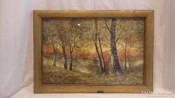 Révai L. erdőbelső festmény