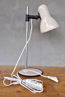 Retro Elektrofém  asztali lámpa , olvasólámpa , bura magasság állítható