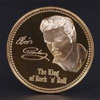 Elvis Presley Ezüstözött Emlékérme PP UNC