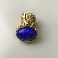 Yves Saint Laurent aranyozott gyűrű üveg kővel 7-es méret