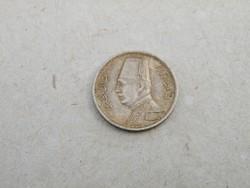 KK325 Ezüst 2 piastres Egyiptom 1929 I. Faud