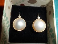 14K arany fülbevaló / mabe, gyémánt