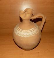 Antik cserép csöcsöskorsó arató korsó magasság 31 cm (pi)