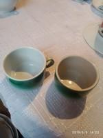 Régi zld kávés pohár párban