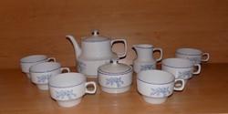 Hollóházi porcelán teás készlet