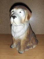 Jelzett biszkvit porcelán nagy méretű kutya 23 cm (p)
