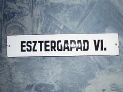 Antik acélgyári műhely zománctábla zománc tábla - ESZTERGAPAD VI.