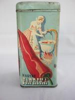 Magyar paprika feliratú fémdoboz Fűszerértékesítő Nemzeti Vállalat