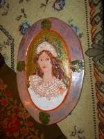 Szilágyi Mária  jelzett KERÁMIA falikép