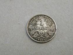 KK318 Ezüst 1 márka Németország 1914 G