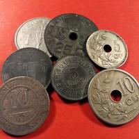 Belgium Kis Gyűjtemény Nagyon Régi Értékes darabokkal 1862-1943