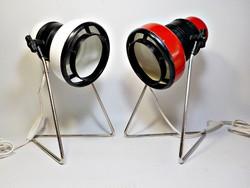 Formatervezett retro asztali lámpa párban Elektrofém