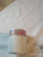 Zsolnay vadrózsás antik csésze sérült