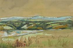 0W681 Ismeretlen festő : Dunántúli táj