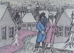 """0W691 Szucsán Károly : """"Séta a faluban"""" 1985"""