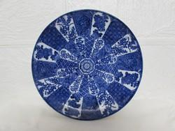 Kek - feher azsiai porcelan tanyer