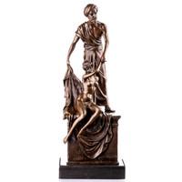 Szolga kereskedő bronz szobor