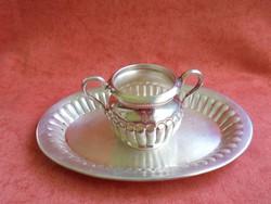 Jelzett ezüst tálca+ szószos edény